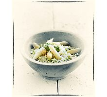 Wild Garlic Risotto With Asparagus Photographic Print