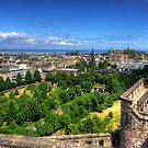Edinburgh from the Castle by Tom Gomez