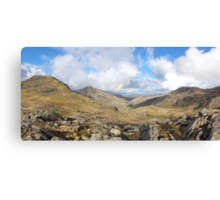 Scafell Pike Cumbria Panorama Canvas Print