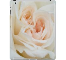 Close Up View Of A Beautiful White Rose. iPad Case/Skin