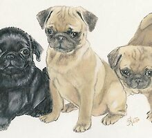 Pug Puppies by BarbBarcikKeith