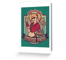 Harley's Puddin' Pops - print Greeting Card