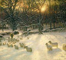 The Shortening Winter's Day is Near a Close by Bridgeman Art Library