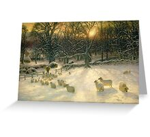 The Shortening Winter's Day is Near a Close Greeting Card