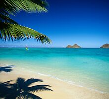 Mokulua Islands at Lanikai Beach by printscapes