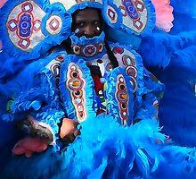 Mardi Gras Indian Big Chief James by MJ Mastrogiovanni