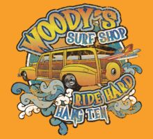 Surfer woody's t shirt by toddalan