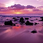 Sunset from Molokai Shoreline by printscapes
