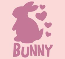 Cute pink BUNNY! rabbit  by jazzydevil