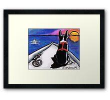 Boston Bow Sunset Framed Print