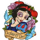 Snow White Day of The Dead Style  by EmRachArt92