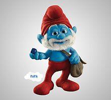 Papa Smurf by nad23