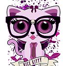 Nice Kitty - White & Purple by Adamzworld