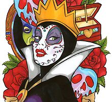 Evil Queen Snow White Disney Day Of The Dead by EmRachArt92