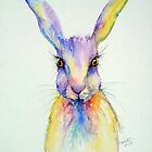 Wide Eyed Hare Animal Art by Arti Chauhan