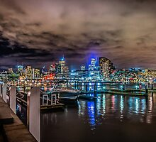 Melbourne At Night by Russell Charters