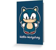 Hello Hedgehog [Sonic] Greeting Card