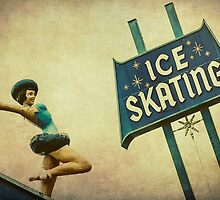 Ice Skating Rink Vintage Signage by Honey Malek