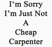 I'm Sorry I'm Just Not A Cheap Carpenter  by supernova23