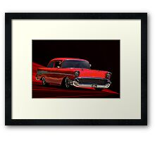 """1957 Chevy """"Post"""" Coupe II Framed Print"""