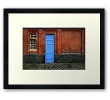 Bricks and Blue Framed Print