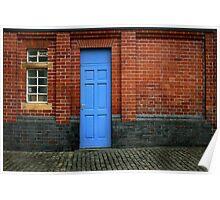 Bricks and Blue Poster
