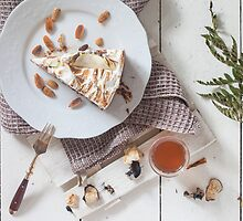 A Slice Of Cake With A Glass Of Tea by visualspectrum