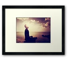 Sunset Meditation in Purple Framed Print