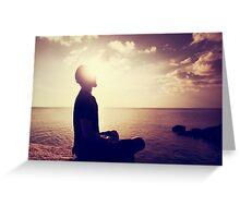 Sunset Meditation in Purple Greeting Card