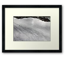 Foam on the water Framed Print