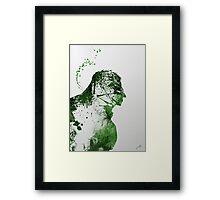 Paint Splatter Superheros: Hulk Framed Print