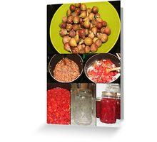 Strawberry Fig Preserves Greeting Card