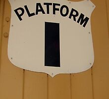 Platform 1 iphone case by Andrew Turley