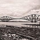 Forth Rail Bridge - Black and White by AmandaJanePhoto