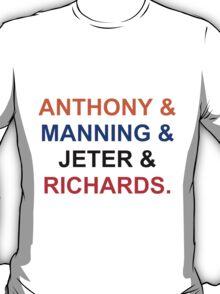 New York sports(NYK, NYG,NYY, NYR) T-Shirt
