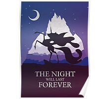The Night Will Last Forever - Nightmare Moon Print Poster