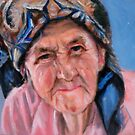 portrait of an old lady by Hidemi Tada