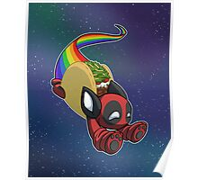 Nyan Deadpool Taco Cat Poster