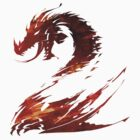 """Guild Wars 2 Logo w/o Title"" T-Shirt + Sticker by Techn0v0rus"