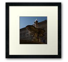 Rome's Fabulous Fountains - Piazza Farnese Fountain Framed Print