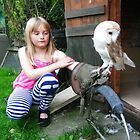 Sophie with Owl by Baron Guibal J P Dip