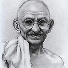 Mohandas Karamchand Gandhi by thedrawinghands