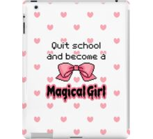 kawaii quit school become a magical girl melty text iPad Case/Skin