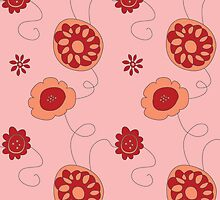 Abstract floral pattern by CClaesonDesign
