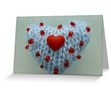 Hand Knitted Heart Greeting Card