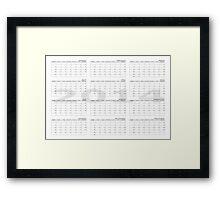 2014 calendar wall planner landscape month start Sunday Framed Print
