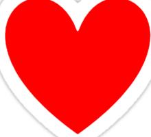I Heart Anime Shirt (WHITE) Sticker