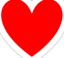 I Heart Jrock Shirt (WHITE) Sticker