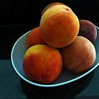 Peaches on the Kitchen Counter by Bine