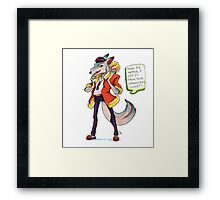 Zooronics: Wren Wolf Framed Print